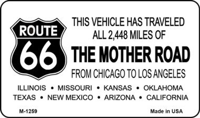 Route 66 Mother Road Novelty Metal Magnet