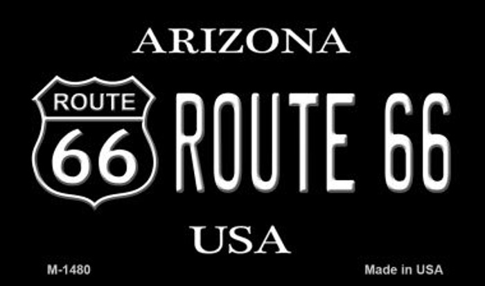 Route 66 Shield Arizona Novelty Metal Magnet