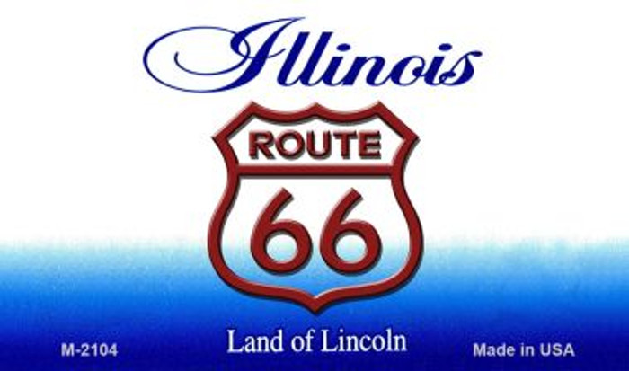 Route 66 On Illinois Background Novelty Metal Magnet
