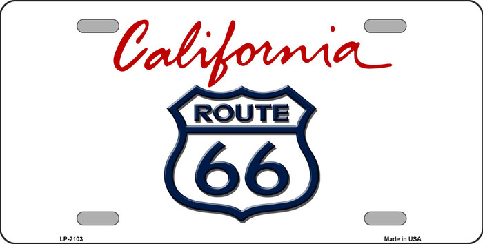 Route 66 California Novelty Metal License Plate