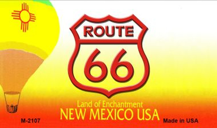 Route 66 On New Mexico Background Novelty Metal Magnet