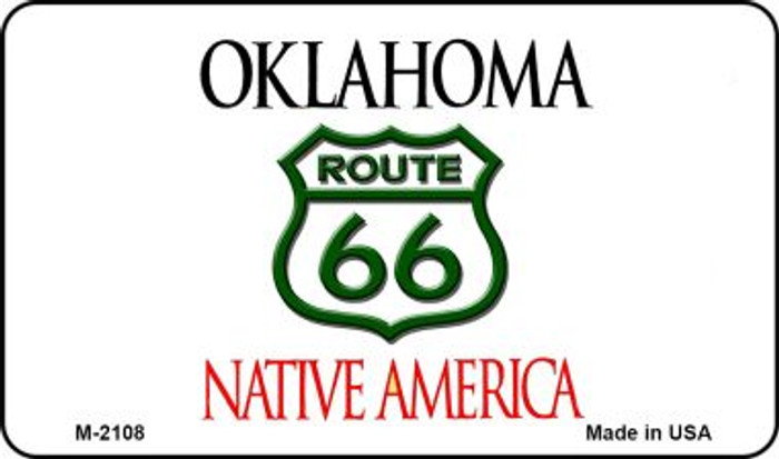 Route 66 On Oklahoma Background Novelty Metal Magnet