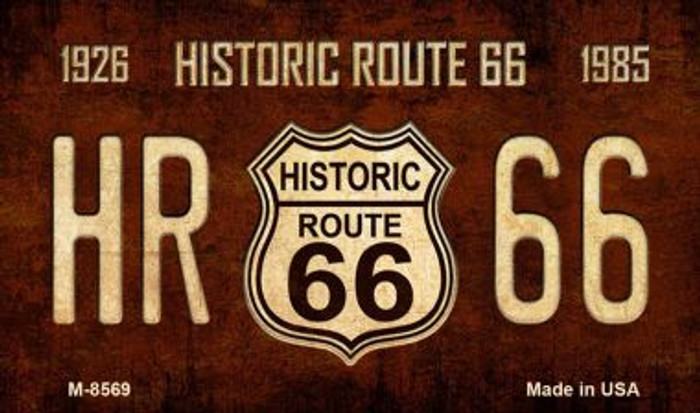 Route 66 Historic Vintage Novelty Metal Magnet