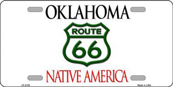Route 66 Oklahoma Novelty Metal License Plate