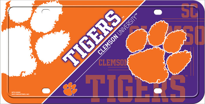 Clemson Tigers Deluxe Novelty Metal License Plate LP-5587