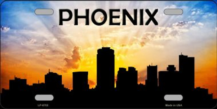 Phoenix Silhouette Novelty Metal License Plate