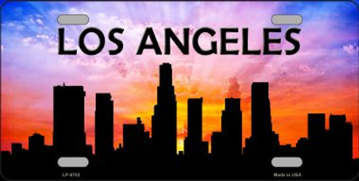 Los Angeles Silhouette Novelty Metal License Plate
