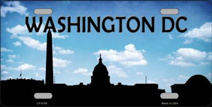 Washington DC Silhouette Novelty Metal License Plate