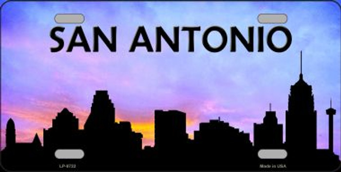 San Antonio Silhouette Novelty Metal License Plate