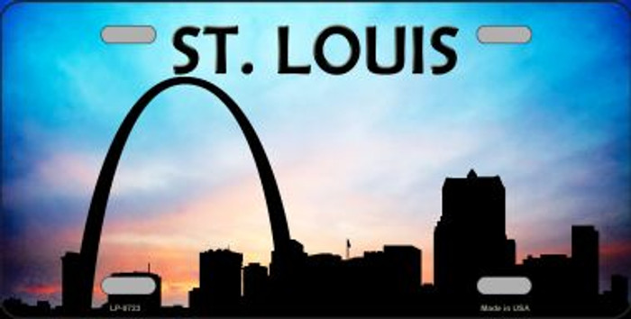 St Louis Silhouette Novelty Metal License Plate