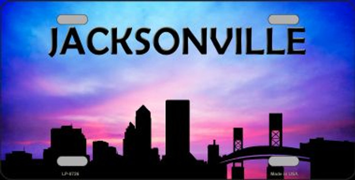 Jacksonville Silhouette Novelty Metal License Plate