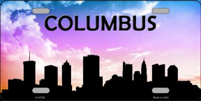 Columbus Silhouette Novelty Metal License Plate