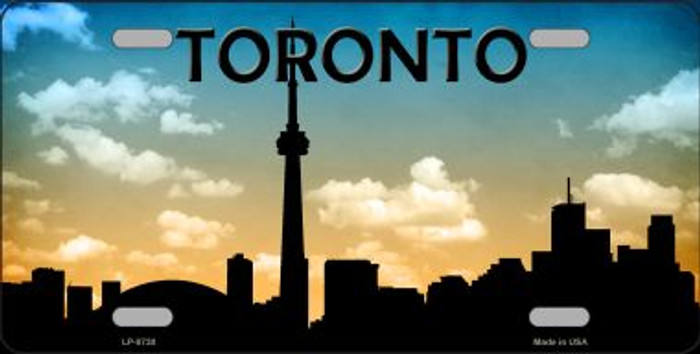Toronto Silhouette Novelty Metal License Plate