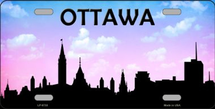 Ottawa Silhouette Novelty Metal License Plate