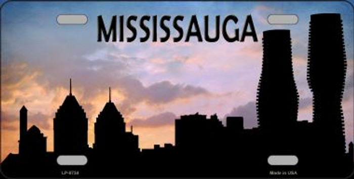 Mississauga Silhouette Novelty Metal License Plate