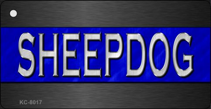 Sheepdog Thin Blue Line Novelty Key Chain