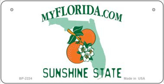Florida Novelty State Background Bicycle License Plate BP-2224