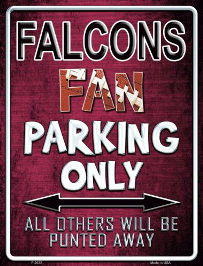 Falcons Metal Novelty Parking Sign