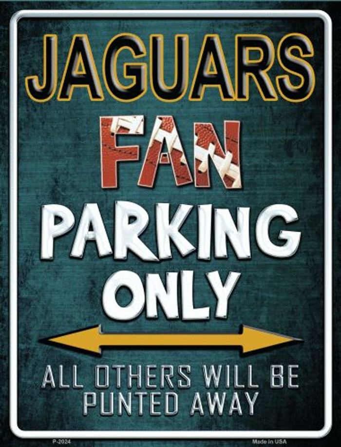 Jaguars Metal Novelty Parking Sign