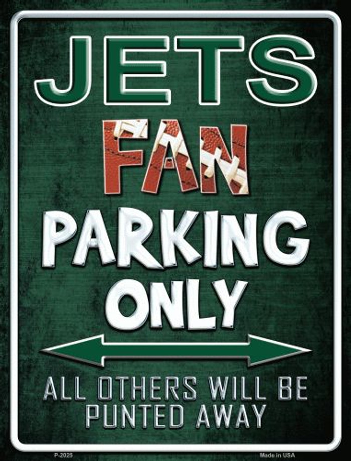 Jets Metal Novelty Parking Sign