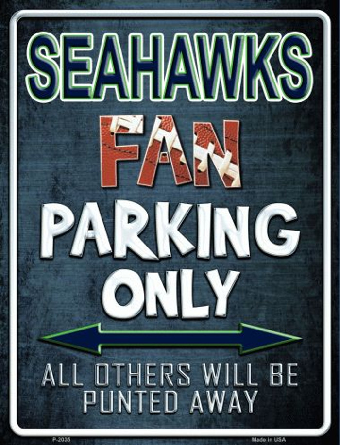 Seahawks Metal Novelty Parking Sign