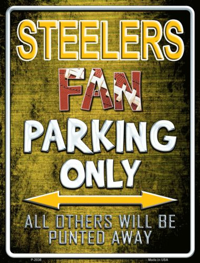Steelers Metal Novelty Parking Sign