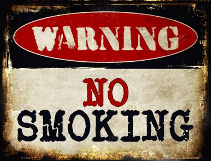 No Smoking Metal Novelty Parking Sign