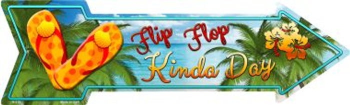 Flip Flop Novelty Metal Arrow Sign