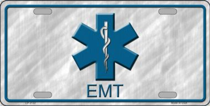 EMT Metal Novelty License Plate