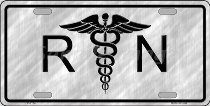 RN Metal Novelty License Plate