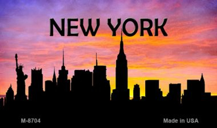 New York Silhouette Novelty Metal Magnet