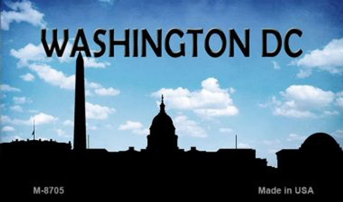 Washington DC Silhouette Novelty Metal Magnet
