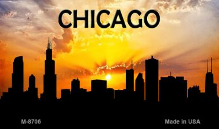 Chicago Silhouette Novelty Metal Magnet