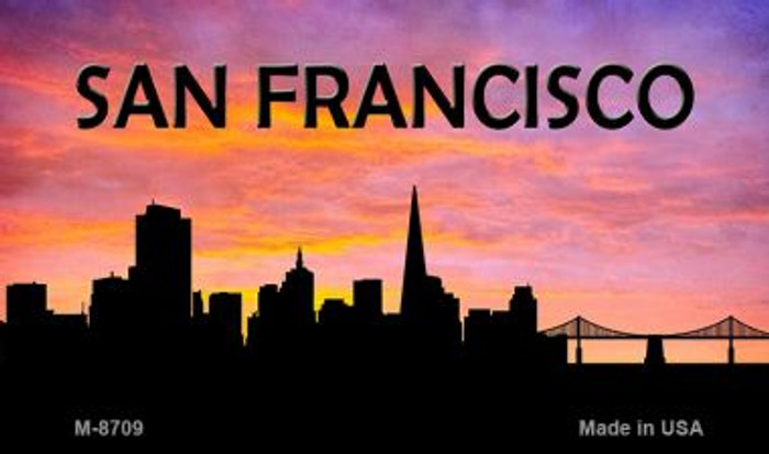 San Francisco Silhouette Novelty Metal Magnet