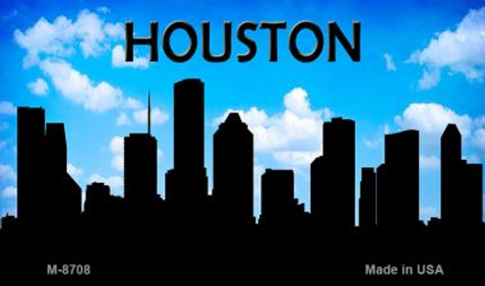 Houston Silhouette Novelty Metal Magnet