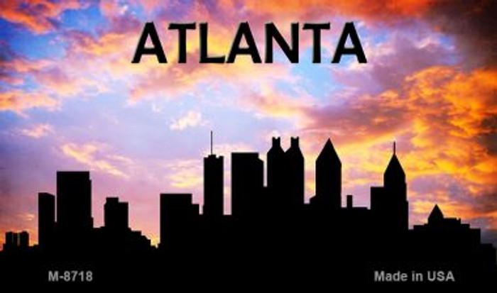 Atlanta Silhouette Novelty Metal Magnet