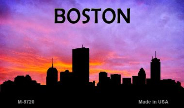 Boston Silhouette Novelty Metal Magnet