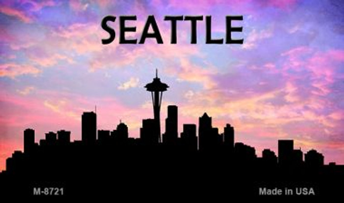 Seattle Silhouette Novelty Metal Magnet
