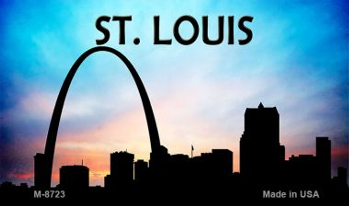 St Louis Silhouette Novelty Metal Magnet