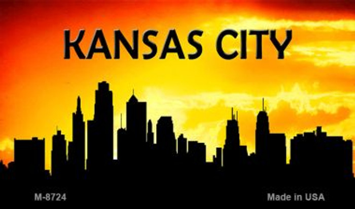 Kansas City Silhouette Novelty Metal Magnet