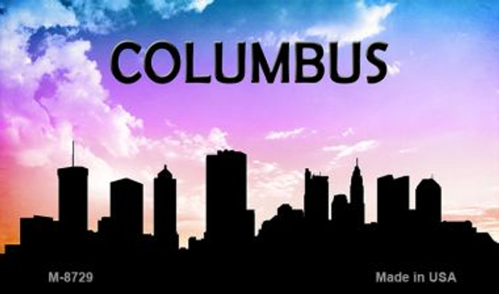 Columbus Silhouette Novelty Metal Magnet