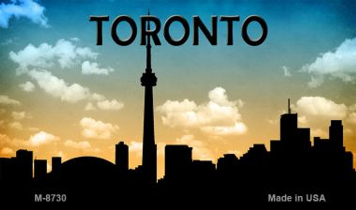 Toronto Silhouette Novelty Metal Magnet