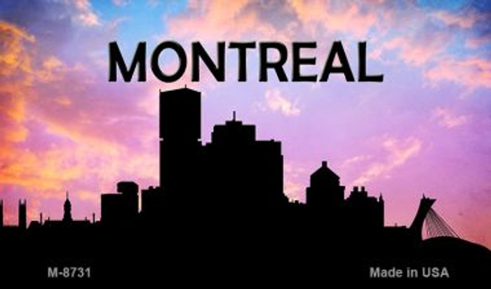 Montreal Silhouette Novelty Metal Magnet