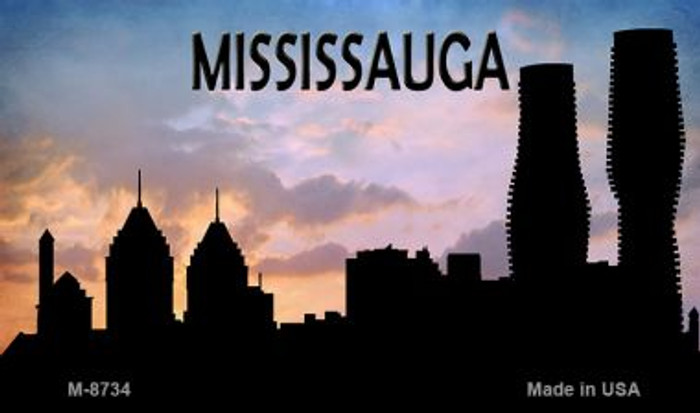 Mississauga Silhouette Novelty Metal Magnet
