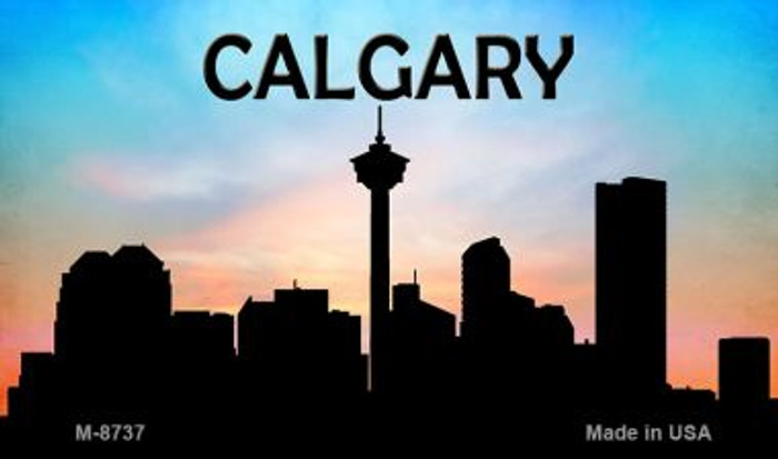 Calgary Silhouette Novelty Metal Magnet