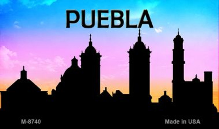 Puebla Silhouette Novelty Metal Magnet