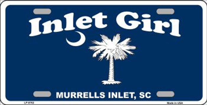 Inlet Girl Novelty Metal License Plate