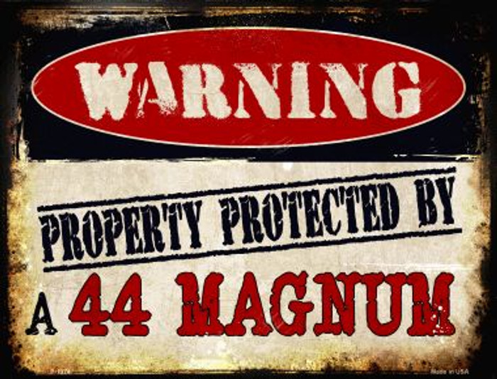 44 Magnum Metal Novelty Parking Sign