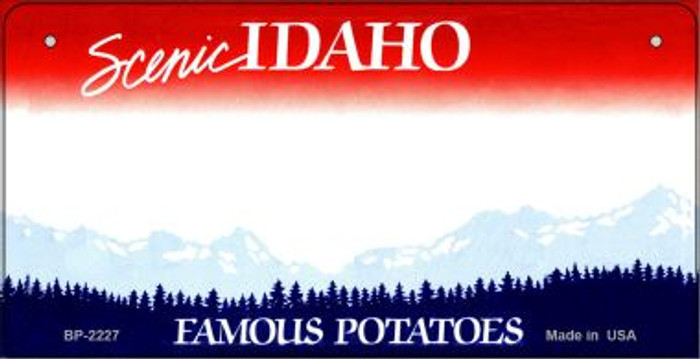 Idaho Novelty State Background Bicycle License Plate BP-2227