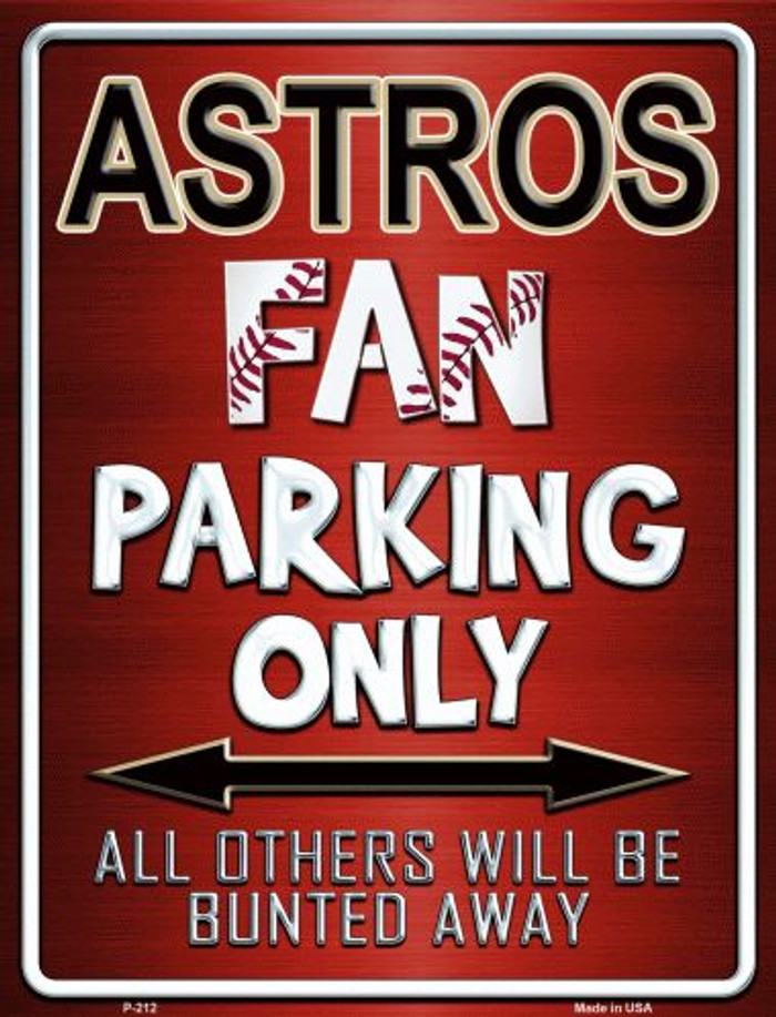 Astros Metal Novelty Parking Sign
